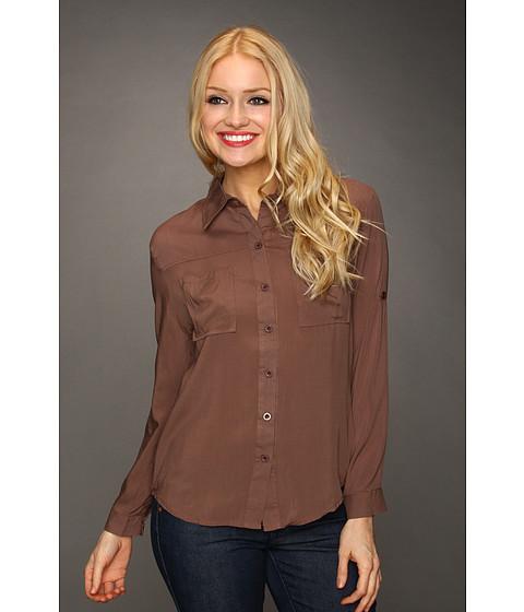 Bluze Christin Michaels - Yila Button Up Top - Brown