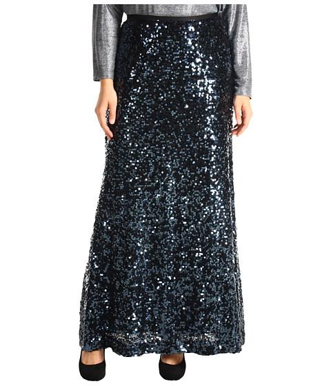 Fuste Calvin Klein - Plus Size Sequin Maxi Skirt - Deep Sea