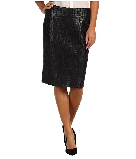Fuste Anne Klein - Alligator Straight Skirt - Black