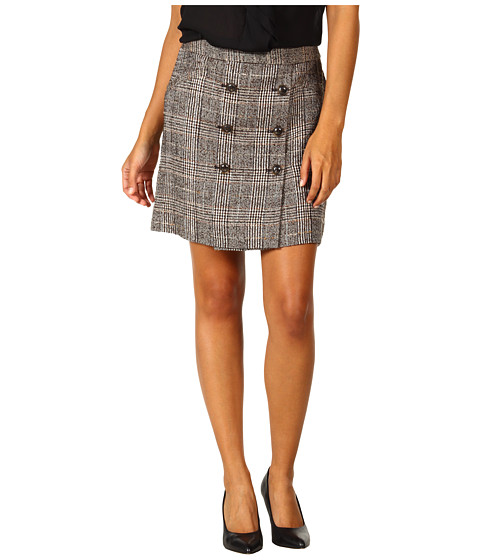 Fuste Anne Klein - Plaid Skirt - Chocolate Multi