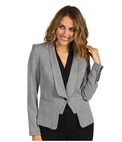 Jachete Anne Klein New York - Petite Tweed One Button Jacket - Black Multi