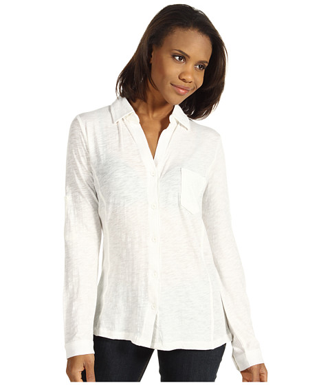 Bluze Carve Designs - Bryn Button Down - Gardenia