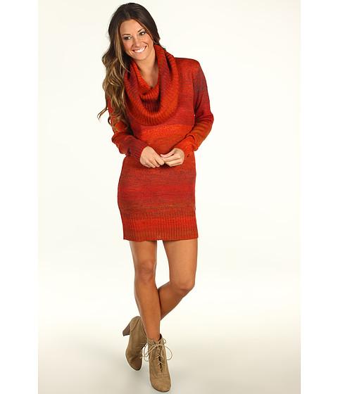 Rochii Michael Stars - Ombre Marl Cowl Sweater Dress - Cinnamon