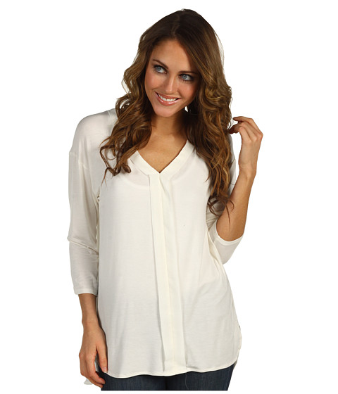 Bluze Kenneth Cole - Rouched V-Neck Tunic - Ivory