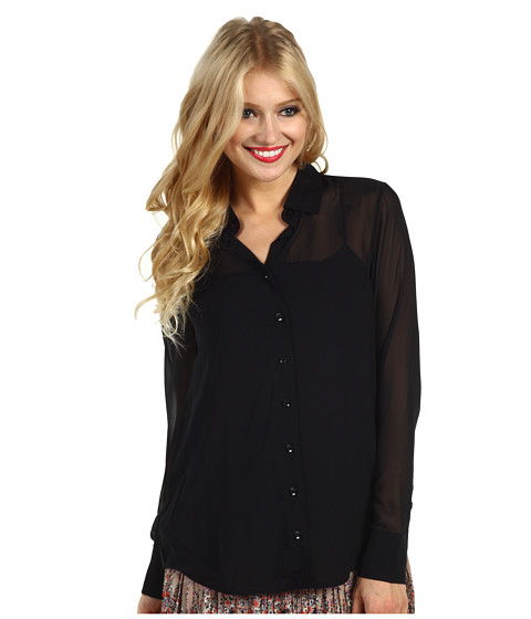 Bluze BCBGeneration - Contrast Yoke Button Up - Black