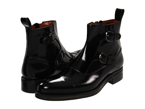Ghete A. Testoni - Brushed Calf Monk Strap Boot - Nero