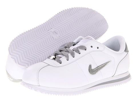 Adidasi Nike - Basic Cortez Leather Jewel - White/Metallic Silver