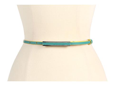 Curele Lodis Accessories - Audrey Adjustable Inset Pant Belt - Teal/Marigold