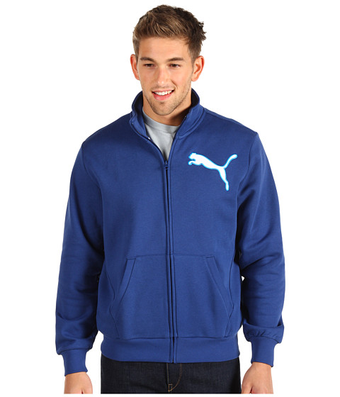 Jachete PUMA - Fleece Zip Track Jacket - Estate Blue/White