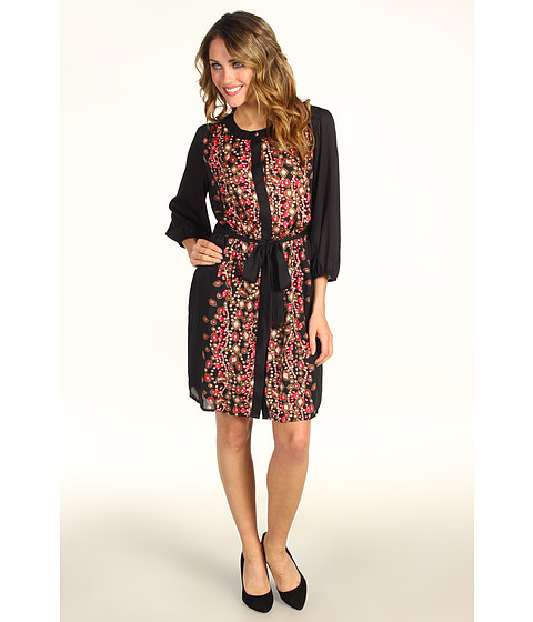 Rochii Max and Cleo - Nikki Jewel Print Shirtdress - Crimson