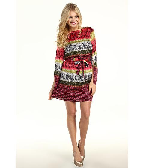 Rochii Laundry by Shelli Segal - Split Sleeve Print Dress - Red Plum Multi