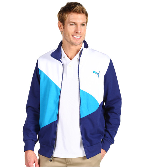 Jachete PUMA - Colorblock Track Jacket - White/Vivid Blue/Blue Depths