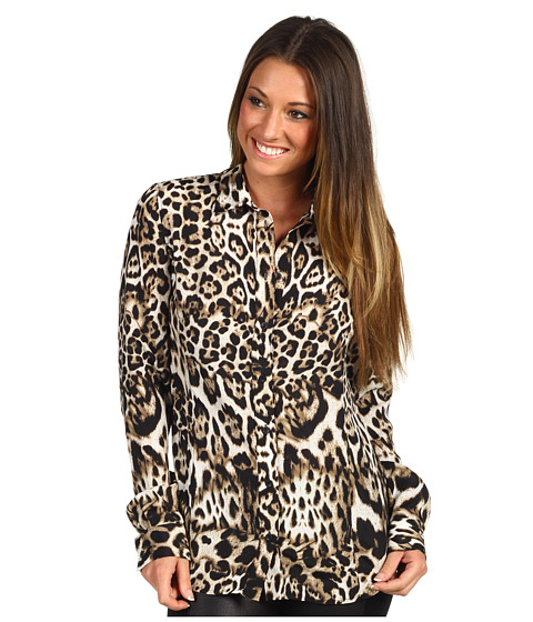 Bluze Just Cavalli - Leopard Print Blouse - Natural