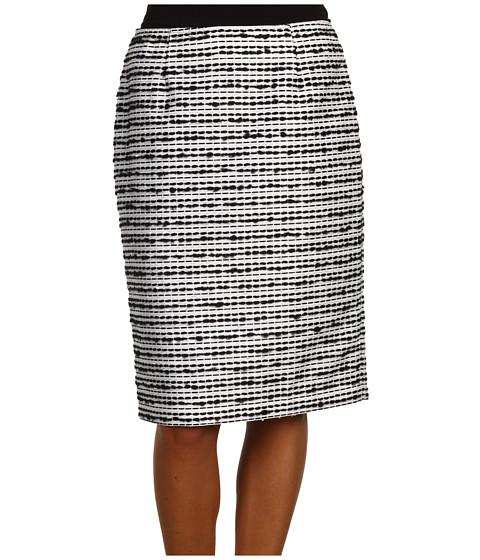 Fuste Jones New York - Gramercy Park Slim Skirt - Black/White