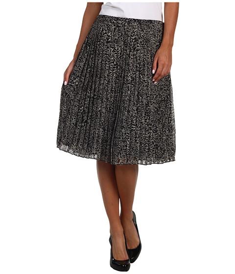Fuste Jones New York - Mini Leopard Pleated Mid Length Skirt - Multi