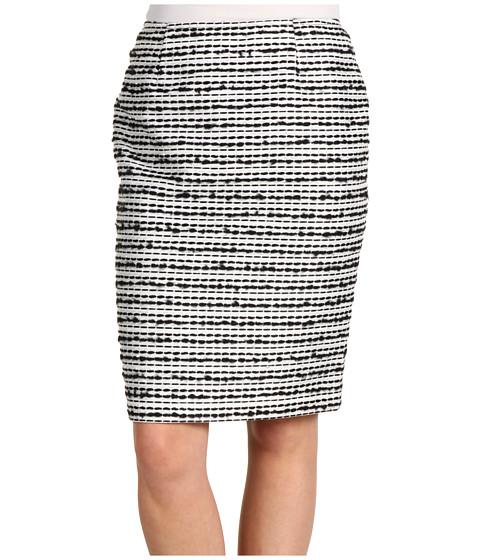 Fuste Jones New York - Petite Gramercy Park Slim Skirt - Black/White