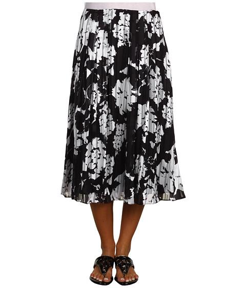 Fuste Jones New York - Pleated Flared Skirt - Black/White