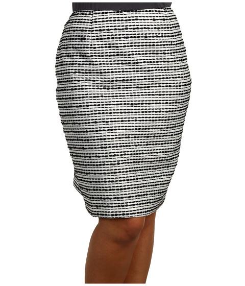 Fuste Jones New York - Plus Size Gramercy Park Slim Skirt - Black/White