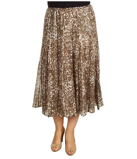 Fuste Jones New York - Plus Size Long Gored Skirt - Beechwood