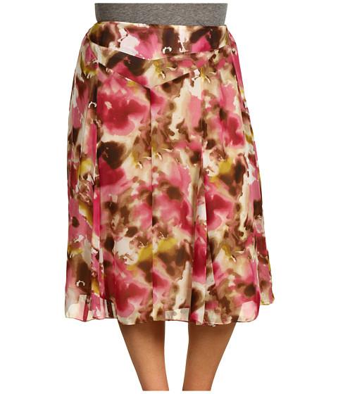 Fuste Jones New York - Plus Size Long Seamed Flare Skirt - Blossom Multi