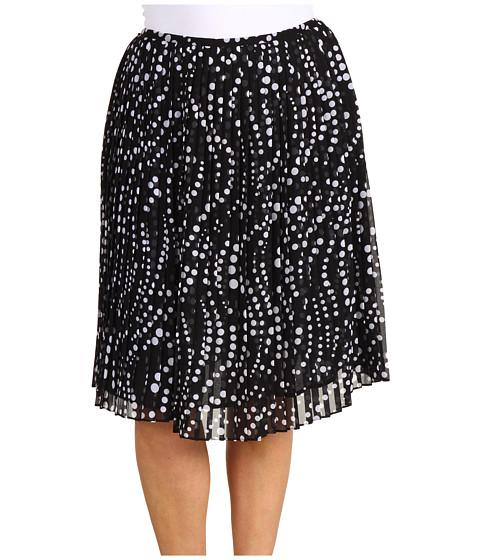 Fuste Jones New York - Plus Size Pleated Short Skirt - Black/White