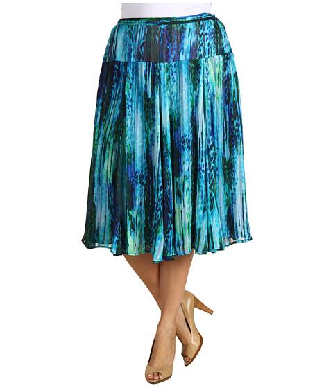 Fuste Jones New York - Plus Size Seamed Skirt w/ Self-Tape - Multi