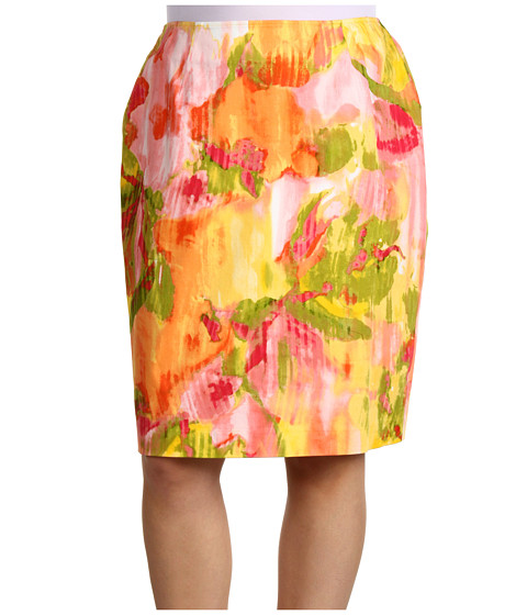 Fuste Jones New York - Plus Slim Skirt - Primrose Multi