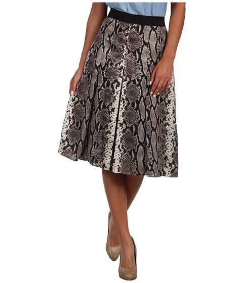 Fuste Jones New York - Python Print Pleated Skirt - Multi