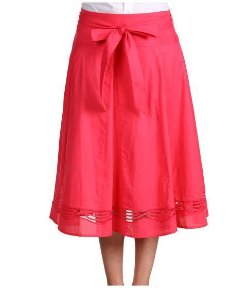 Fuste Jones New York - Seamed Skirt With Embroidery - Primrose