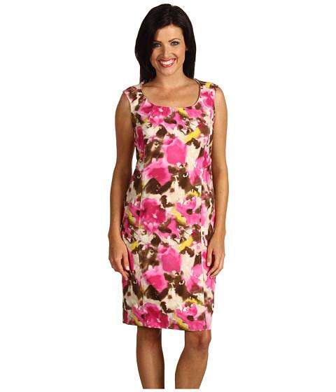 Rochii Jones New York - Cap Sleeve Scoop Neck Sheath Dress - Blossom Multi