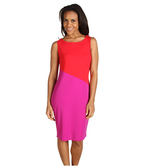Rochii Jones New York - Colorblock Jewel Neck Dress - Multi