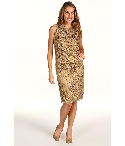 Rochii Jones New York - Missy Cowl Neck Dress With Yoke - Rum Multi