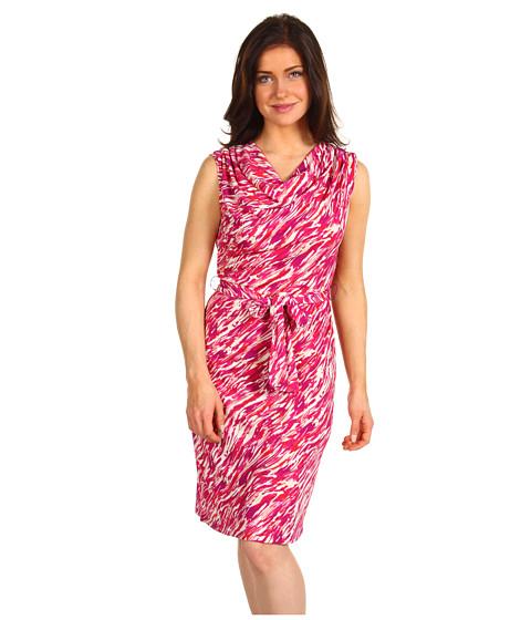 Rochii Jones New York - Petite Drape Neck Dress - Multi