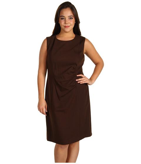 Rochii Jones New York - Plus Size Ponte Sleeveless Sheath Dress - Teak