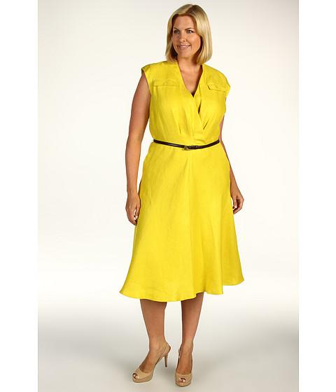 Rochii Jones New York - Plus Size Shelter Island S/L Belted Flap Pocket Dress - Citrus