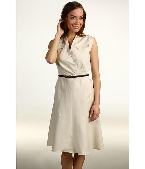 Rochii Jones New York - S/L Belted Flap Pocket Dress - Muslin