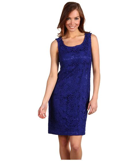 Rochii Jones New York - Scoop Neck Lace Dress - Dark Cerulean