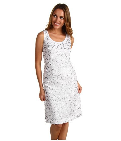 Rochii Jones New York - Sleeveless Sequin Dress - JWhite/Silver