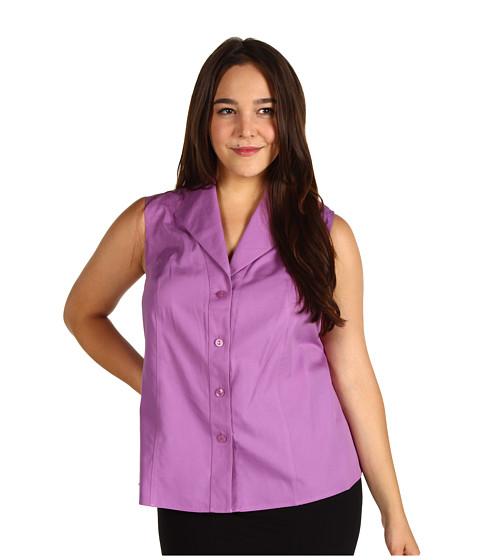 Tricouri Jones New York - Plus Size Easycare Sleeveless Blouse - Light Plume