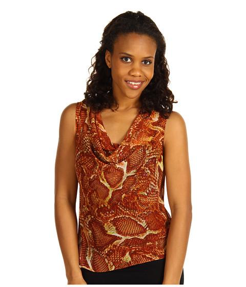 Tricouri Jones New York - Sleeveless Cowl Neck Blouse - Multi