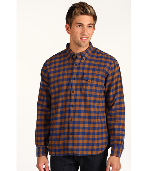 Bluze Lucky Brand - Ambassador Gingham Shirt - Blue/Brown