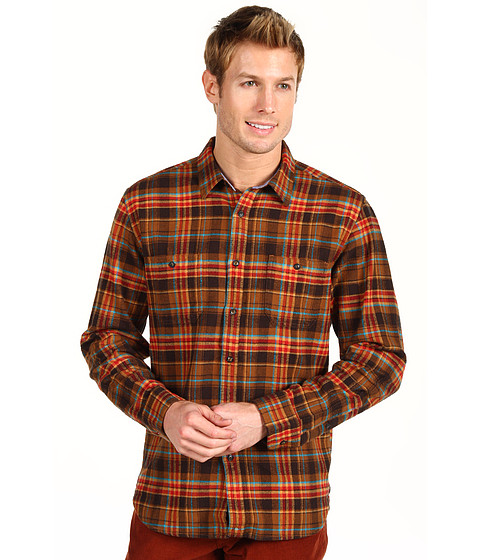 Bluze Lucky Brand - Sunset Plaid Two-Pocket Shirt - Black/Brown/Gold