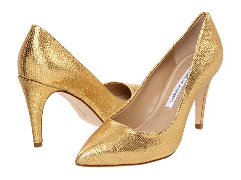 Pantofi Diane Von Furstenberg - Anette - Gold Metallic Lizard Print