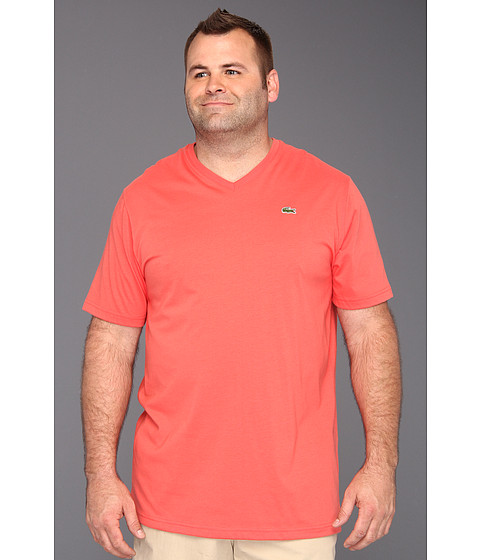 Tricouri Lacoste - Tall S/S Jersey V-Neck T-Shirt - Guava