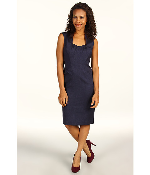 Rochii Anne Klein - Herringbone Dress - Navy