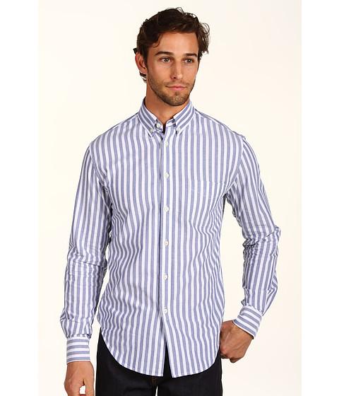 Camasi Shades of Grey - Slim Fit Button Down Shirt - Hampton Stripe