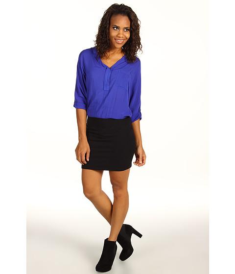 Rochii Splendid - Shirting Dress - Blue Jay/Black