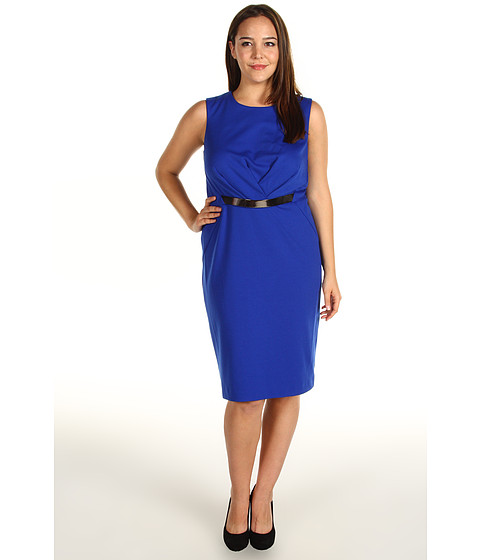 Rochii Calvin Klein - Plus Size Belted Dress - Atlantis