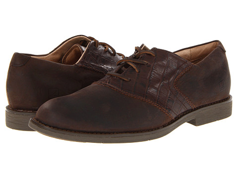 Pantofi Sperry Top-Sider - Jamestown Saddle Oxford - Mahogany Embossed/Dark Brown Croc