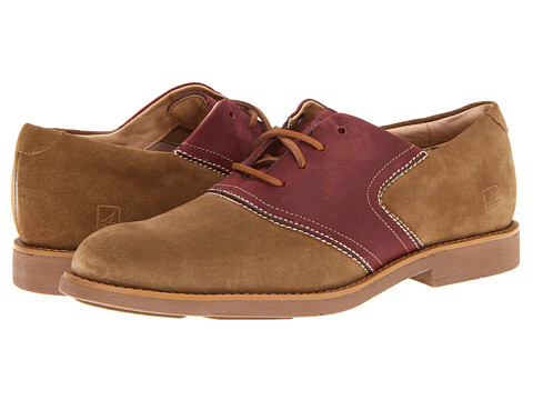 Pantofi Sperry Top-Sider - Jamestown Saddle Oxford - Noce Suede/Oxblood